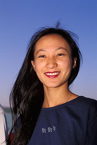 image 4-340-19 China, Beijing, Young woman visiting the Summer Palace