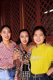 young women visiting the summer palace stock photography | China, Beijing, Young woman visiting the Summer Palace, image id 4-340-62