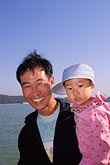 family portrait stock photography | China, Beijing, Man and daughterSummer Palace, image id 4-340-63