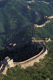 fortress stock photography | China, Beijing, The Great Wall at Mutianyu, image id 4-343-67