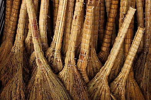 image 4-375-18 China, Lanzhou, Straw brooms