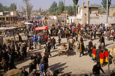 crowd scene stock photography | China, Kashgar, Street scene, Sunday market, image id 4-414-12