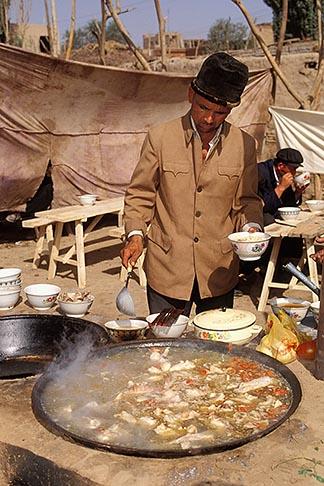 image 4-418-19 China, Kashgar, Soup restaurant, Sunday market