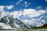 snow capped stock photography | China, Pamirs, Near the Khunjerab pass on the Karakoram Highway, image id 4-445-25