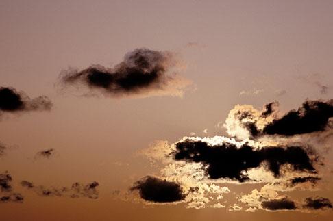 image 2-48-36 Clouds, Sunlight through cumulus clouds, San Francisco Bay