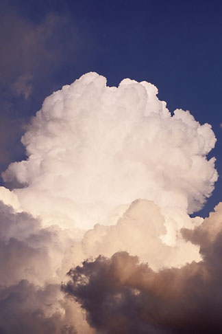image 3-286-20 California, Cumulonimbus clouds at dusk