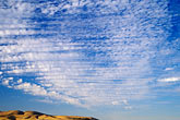 blue sky stock photography | Clouds, Altocumulus clouds and hillside, image id 4-300-31