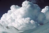 cumulus clouds stock photography | California, Mt Shasta, Cumulonimbus clouds over Shastina, image id 9-0-26