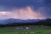 storm stock photography | Colorado, Storm clouds and farm near Durango, image id 6-250-31
