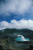 poas volcano stock photography | Costa Rica, P�as Volcano, Crater and steam, image id 8-437-11