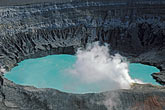 volcanic crater lake with steam cloud stock photography | Costa Rica, Volcan Poas National Park,, Volcanic crater lake with steam cloud, image id 8-437-7