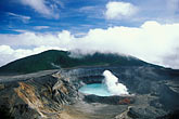 horizontal stock photography | Costa Rica, P�as Volcano, Crater and steam, image id 8-448-9