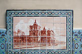 horizontal stock photography | Costa Rica, San Jose, Painted tile of old San Jose, image id 8-460-32