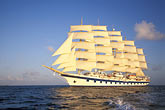 horizon over water stock photography | Cruises, Clipper Ships, Royal Clipper at full sail, image id 3-600-18
