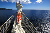 sailing ship stock photography | St. Vincent, Grenadines, Royal Clipper, relaxing on the bowsprit, image id 3-610-16