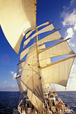 distinctive stock photography | Cruises, Clipper Ships, Royal Clipper at full sail, image id 3-621-2