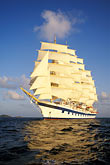 five masts stock photography | Cruises, Clipper Ships, Royal Clipper at full sail, image id 3-621-4