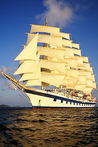 image 3-621-7 Cruises, Clipper Ships, Royal Clipper at full sail