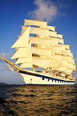 five masts stock photography | Cruises, Clipper Ships, Royal Clipper at full sail, image id 3-621-7