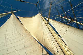 7-547-24  stock photo of Cruises, Clipper Ships, Mast and sails, Star Flyer