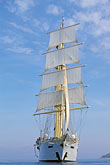 front view stock photography | Cruises, Clipper Ships, Clipper ship in the Aegean Sea, image id 9-280-62