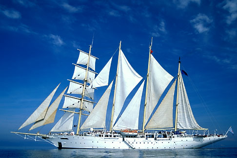 9-281-27  stock photo of Cruises, Clipper Ships, Star Flyer in the Aegean Sea
