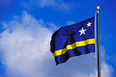 blue sky stock photography | Cura�ao, Willemstad, Netherlands Antilles flag, image id 3-431-14
