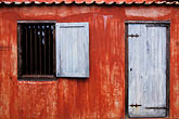 unjust stock photography | Cura�ao, Willemstad, Kur� Hulanda Museum, slave quarters, image id 3-431-42