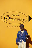 person of color stock photography | Cura�ao, Willemstad, Kur� Hulanda, Astrolab Observatory restaurant, image id 3-431-57