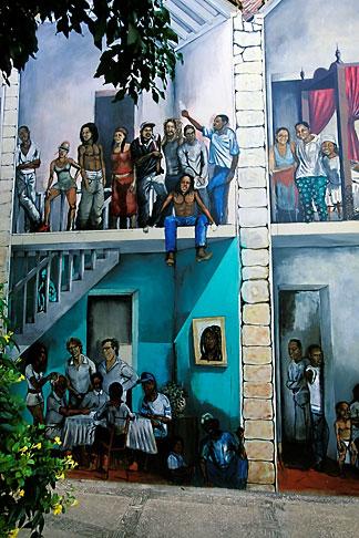 image 3-431-84 Curacao, Willemstad, Kura Hulanda, mural
