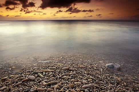 image 3-432-26 Curacao, Little Knip Beach, sunset