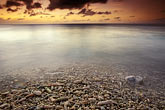 shell stock photography | Cura�ao, Little Knip Beach, sunset, image id 3-432-26