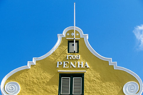image 3-433-17 Curacao, Willemstad, Punda, Historic District, Colonial Building, 1708