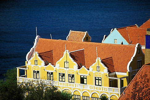 image 3-433-19 Curacao, Willemstad, Punda, Historic District, Colonial Building, 1708