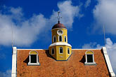 yellow stock photography | Cura�ao, Willemstad, Fort Church, 1796, Oldest church in Cura�ao, image id 3-433-27