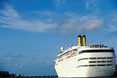 west stock photography | Cura�ao, Willemstad, Cruise ship at dock, image id 3-434-1