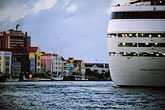 water stock photography | Cura�ao, Willemstad, Cruise ship at dock, image id 3-434-4