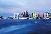 blue stock photography | Cura�ao, Willemstad, Waterfont, Punda, image id 3-434-6