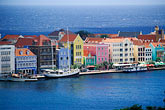 blue stock photography | Cura�ao, Willemstad, Aerial view of Punda, image id 3-435-4