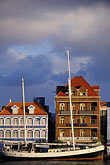 vertical stock photography | Cura�ao, Willemstad, Handelskade waterfront, historic buildings, image id 3-436-18