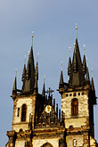 church tower stock photography | Czech Republic, Prague, Tyn Cathedral, image id 4-960-100