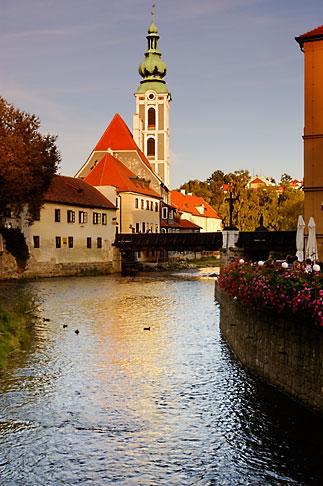 image 4-960-1037 Czech Republic, Cesky Krumlov, Vlatava River