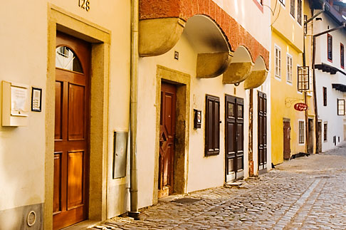 image 4-960-1091 Czech Republic, Cesky Krumlov, Street scene