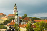 church roof stock photography | Czech Republic, Cesky Krumlov, Cesky Krumlov Castle and town, image id 4-960-1112
