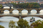 boat stock photography | Czech Republic, Prague, Bridges over River Vlatava, image id 4-960-1169