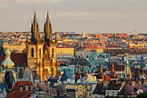 city view from tower stock photography | Czech Republic, Prague, Stare Mesto, Old town from Church tower, image id 4-960-1175