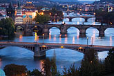 evening stock photography | Czech Republic, Prague, Bridges over River Vlatava, image id 4-960-1202