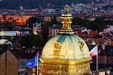 flag stock photography | Czech Republic, Prague, Dome of St. Nicholas Church, Mala Strana, image id 4-960-1206