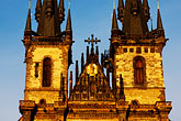 town square stock photography | Czech Republic, Prague, Tyn Cathedral, image id 4-960-123