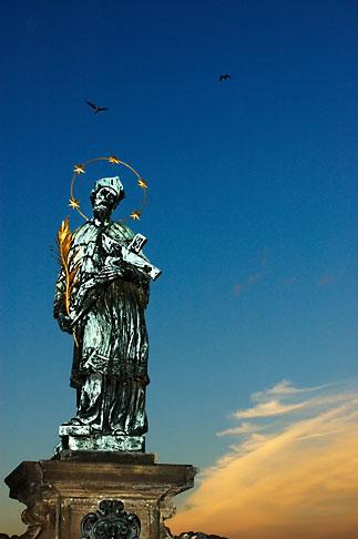 image 4-960-149 Czech Republic, Prague, Charles Bridge, Statue of St John Nepomuk